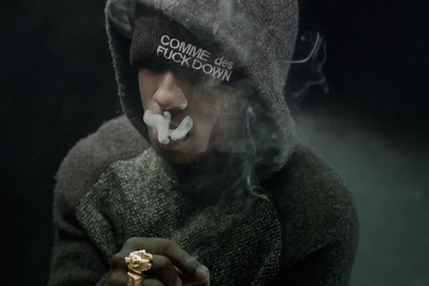 ASAP Rocky в шапке Comme des Fuckdown. Изображение № 3.