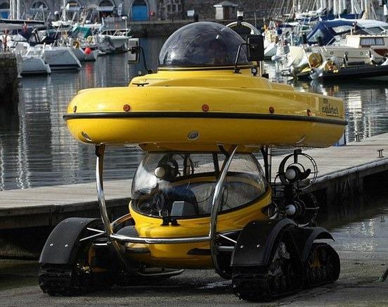Англичанин разработал подводную лодку-амфибию с революционным гироскопическим генератором. Изображение № 2.