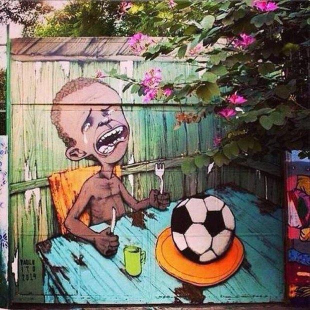 Такой футбол нам не нужен: Граффити против чемпионата мира. Изображение № 4.