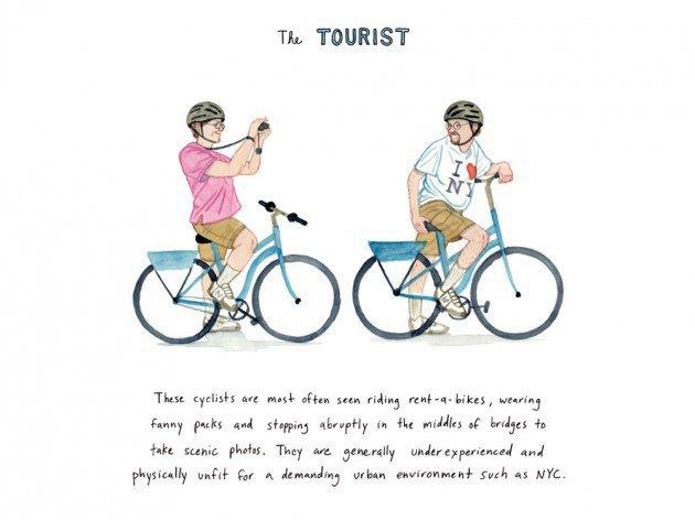 Художник-иллюстратор классифицировал нью-йоркских велосипедистов. Изображение № 2.