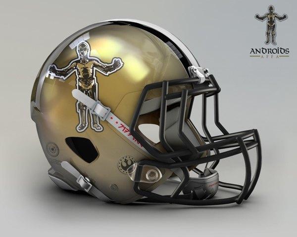 Мексиканец создал коллекцию футбольных шлемов, посвящённую «Звёздным войнам». Изображение № 14.
