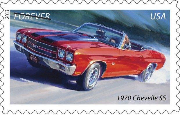 Почта США выпустила коллекцию марок с изображением легендарных маслкаров. Изображение № 5.
