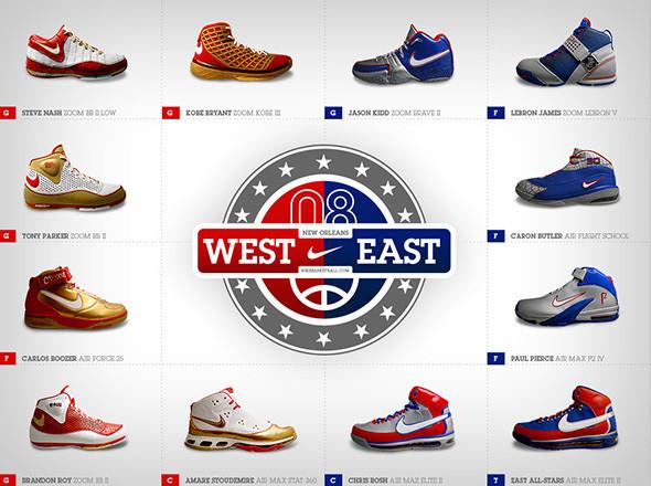 Реклама кроссовок Nike и матча NBA All Stars 2008 года. Изображение №21.