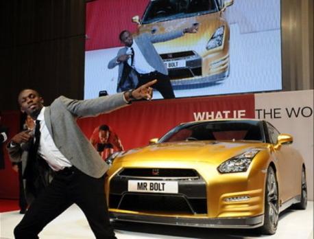 Nissan изготовил эксклюзивный золотой суперкар GT-R в честь Усэйна Болта. Изображение № 7.