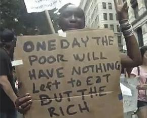 «Однажды у бедных не будет еды, тогда им придется есть богатых». Изображение № 22.