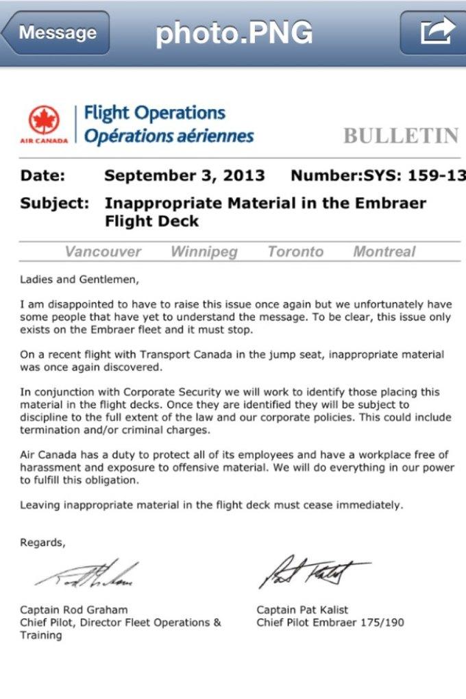Канадским пилотам повторно запретили смотреть порно во время полётов. Изображение № 1.