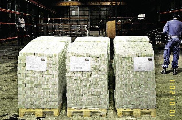 Опубликованы фотографии 20 миллиардов евро Каддафи из аэропорта Шереметьево. Изображение № 1.