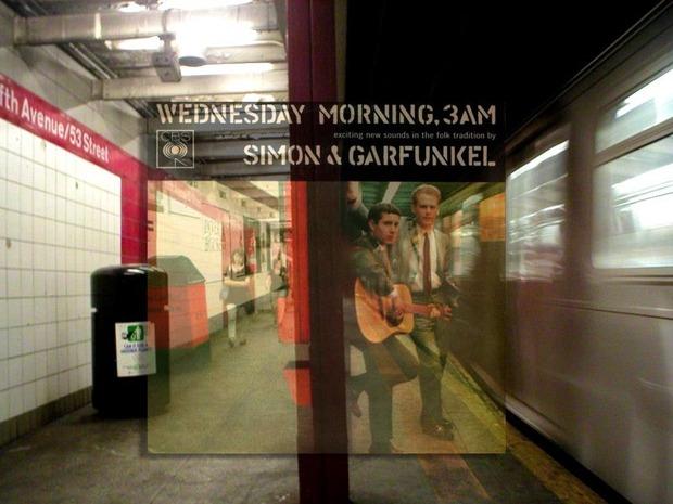 Американский фотограф наложил обложки известных альбомов на современные виды Нью-Йорка. Изображение № 6.