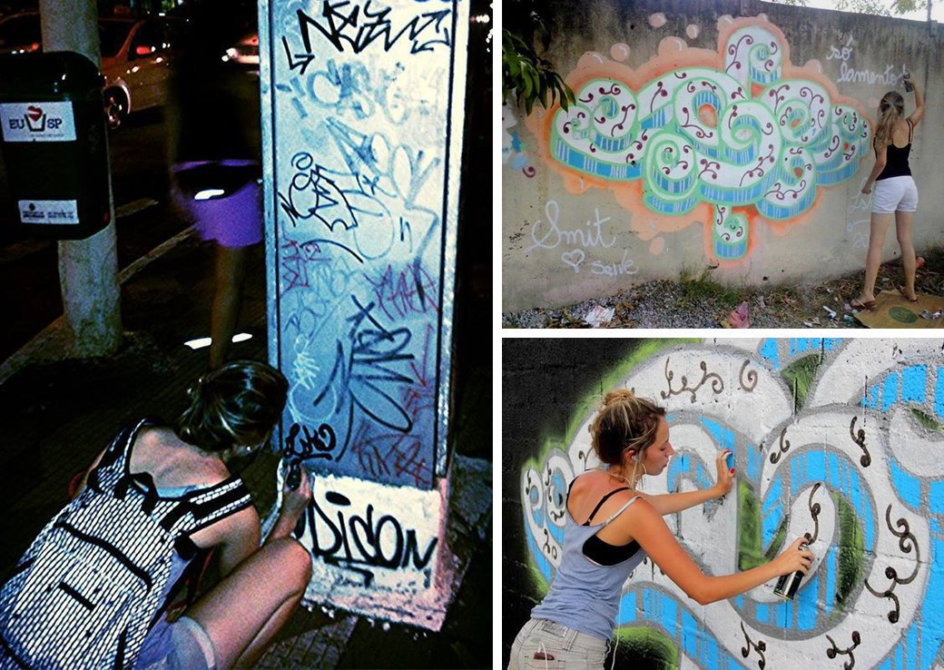 «Девушки не должны рисовать фигню в розовых цветах»: Интервью с граффити-командой As Mina Do Vandal. Изображение № 3.