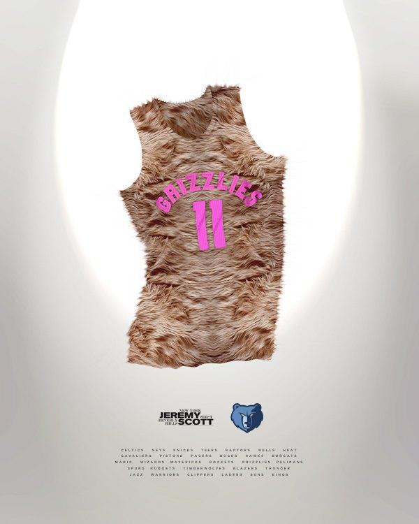 Канадский дизайнер представил, как бы выглядела форма NBA в исполнении культовых брендов. Изображение № 4.