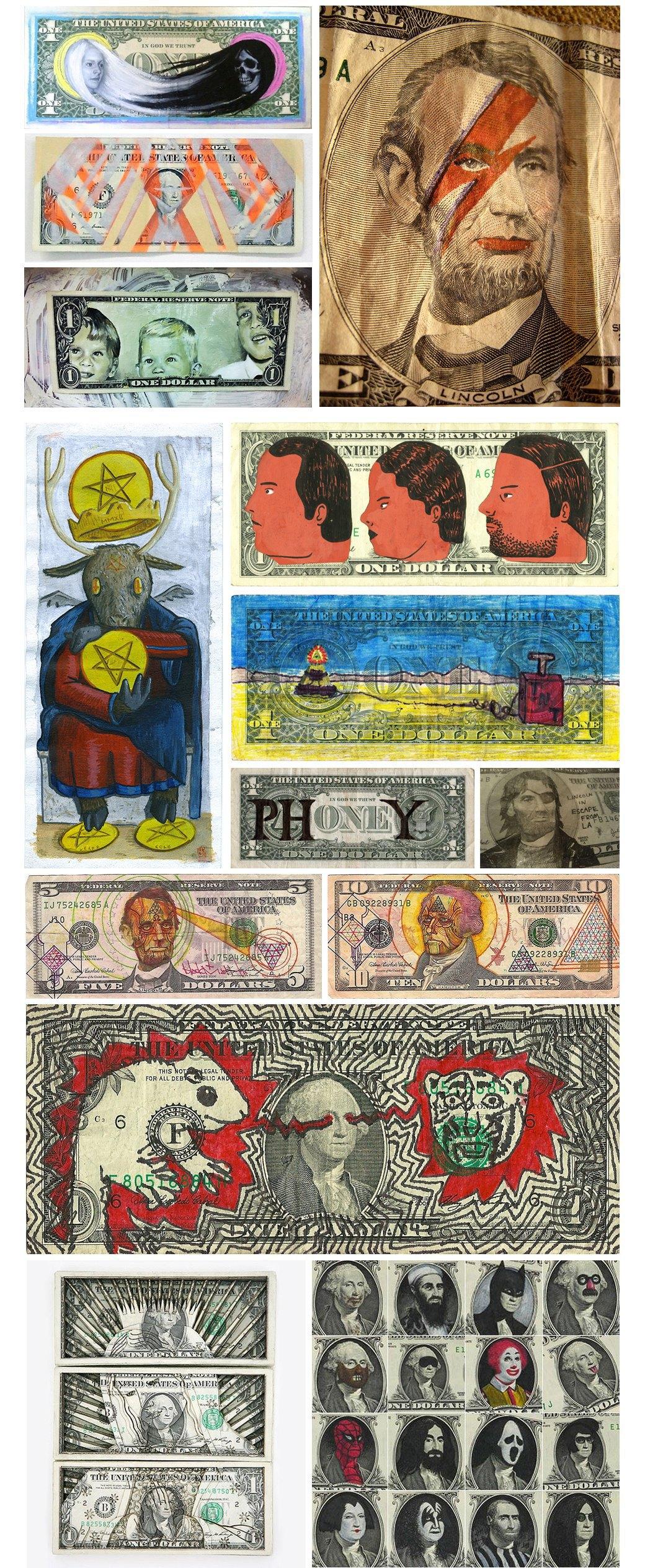 Искусство как федеральное преступление: Художники, которые рисуют на долларах. Изображение № 1.