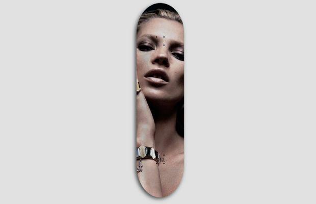Художник Джефф Гаудинет выпустил серию дек для скейтбординга с портретами Кейт Мосс. Изображение № 2.