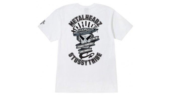 Марка Stussy поздравила лейбл Metalheadz с 20-летием выпуском футболок. Изображение № 10.