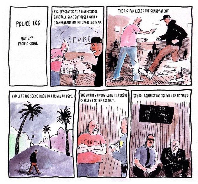 Police Log Comics: Абсурдные полицейские сводки в формате комиксов. Изображение № 24.