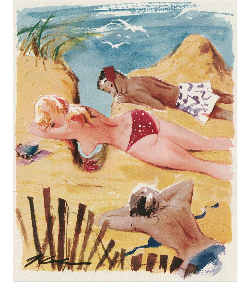 Эротические карикатуры из мужских журналов 1960-х годов. Изображение № 1.