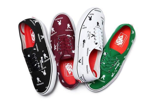 Марки Vans, Supreme и  Playboy выпустили совместную коллекцию обуви. Изображение № 8.