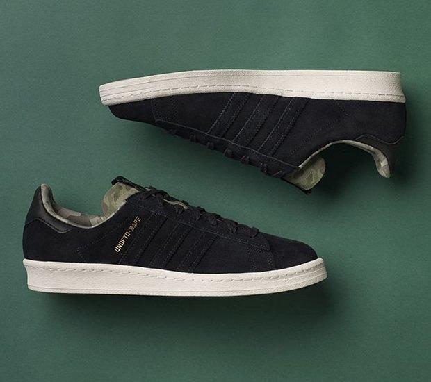 Марки A Bathing Ape, Undefeated и Adidas Originals представили совместную коллекцию кроссовок. Изображение № 7.