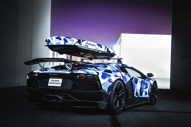 Марка Bape и компания Lamborghini представили совместную модель автомобиля Aventador. Изображение № 4.