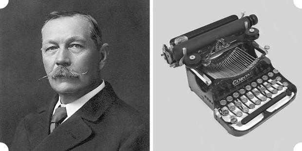 Герои романов Артура Конана Дойла часто пользуются печатными машинками, впрочем конкретные модели автор никогда не указывал. Справа: «Corona 3», на которой печатал Эдвард Мэлоун — герой романа «Затерянный мир» — в экранизации 1925 года.. Изображение № 9.