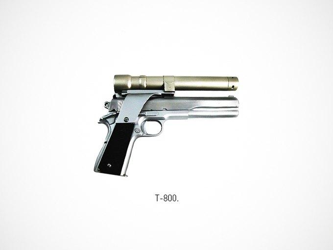 Итальянский дизайнер представил коллекцию плакатов знаменитого оружия. Изображение № 20.