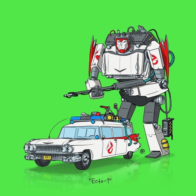 Даррен Роулингс: Если бы машины из культовых фильмов были трансформерами. Изображение № 13.