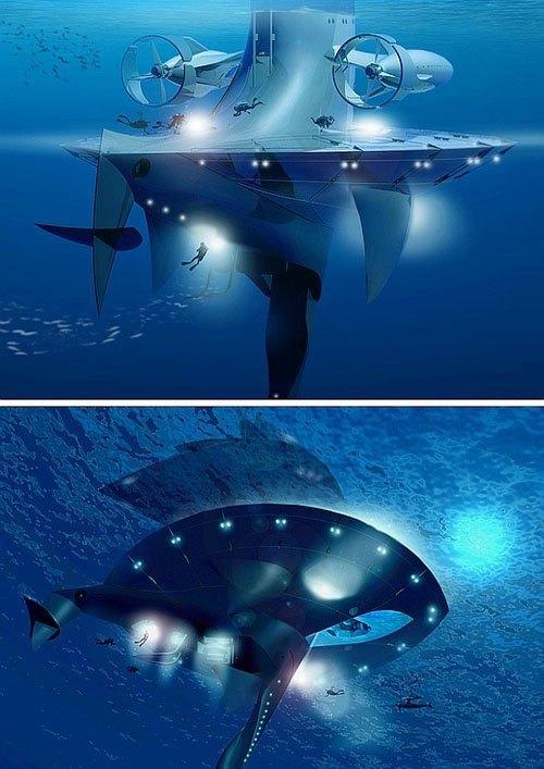 Французский исследователь собрал деньги на 60-метровую футуристичную плавучую платформу. Изображение № 3.