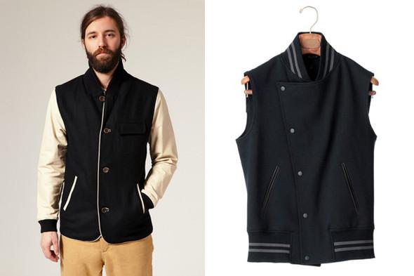 Вдохновленные университетской курткой блейзер и жилет. Изображение № 24.