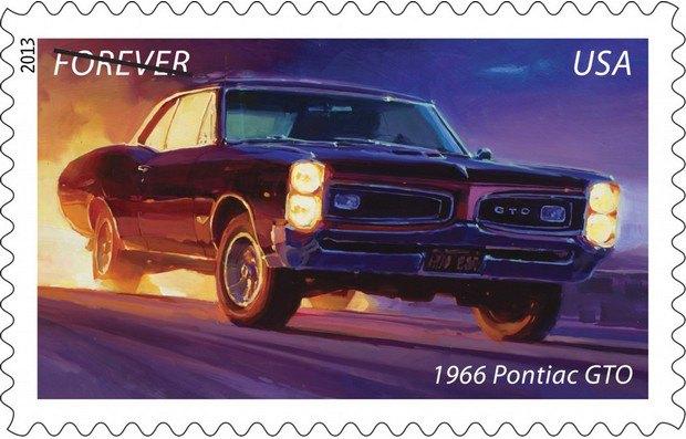 Почта США выпустила коллекцию марок с изображением легендарных маслкаров. Изображение № 1.