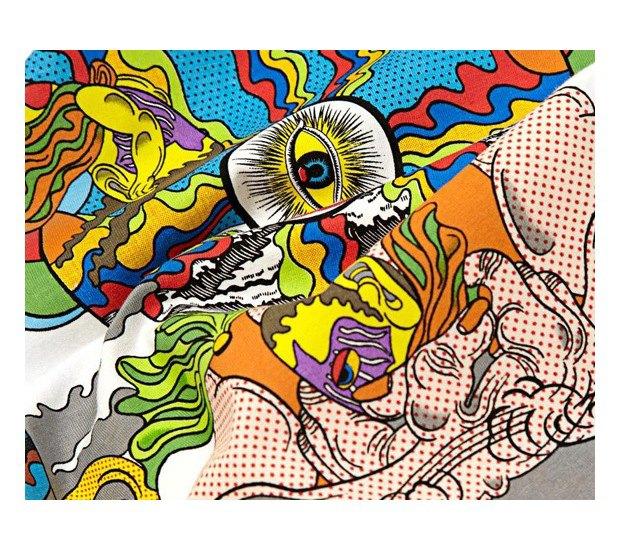 Марка Stussy и японский художник Кейичи Танами выпустили совместную коллекцию футболок. Изображение № 9.