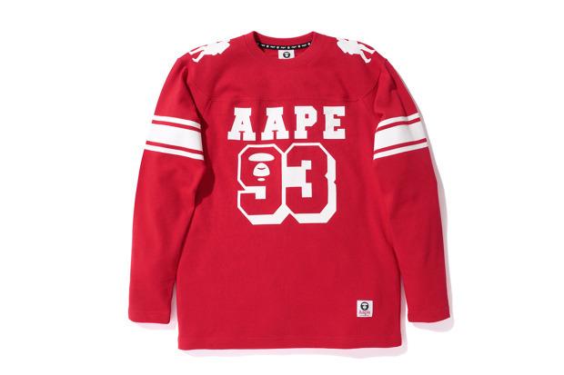 A Bathing Ape представила совместную коллекцию своей линейки Aape и марки Champion. Изображение №7.