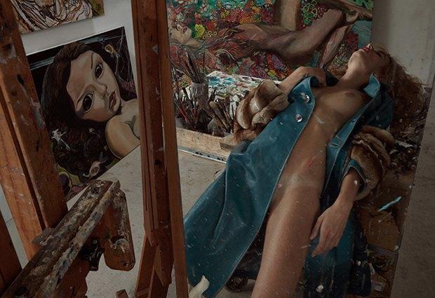 Бельгийская модель Элиза Сис снялась для журнала Treats!. Изображение № 2.
