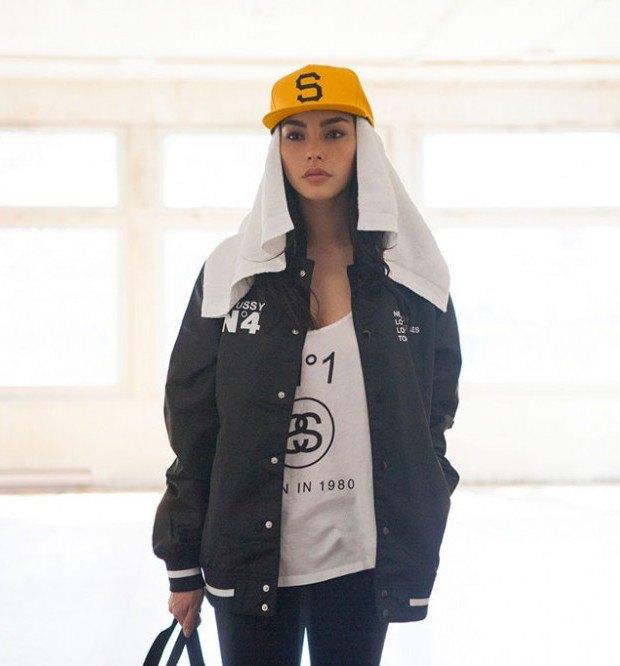 Канадская модель Адрианна Хо снялась в весеннем лукбуке марки Stussy. Изображение № 4.