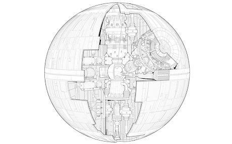 Британское издательство опубликовало чертежи «Звезды смерти». Изображение № 2.