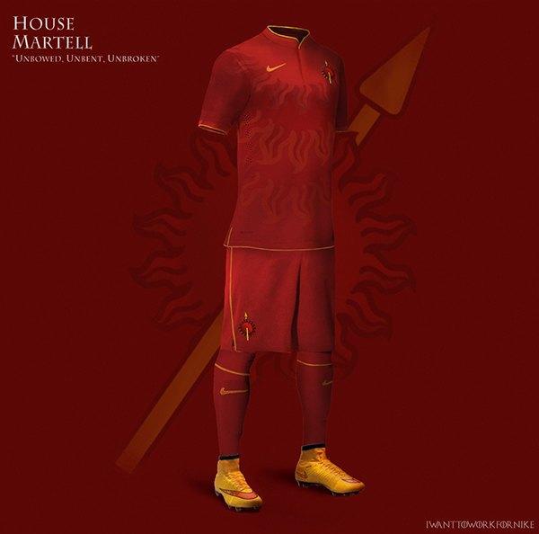 Испанский дизайнер создал футбольную форму для «Игры престолов» . Изображение № 8.