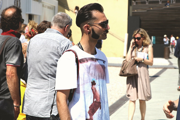 Первый день Pitti Uomo: Прически, усы и бороды посетителей. Изображение № 14.