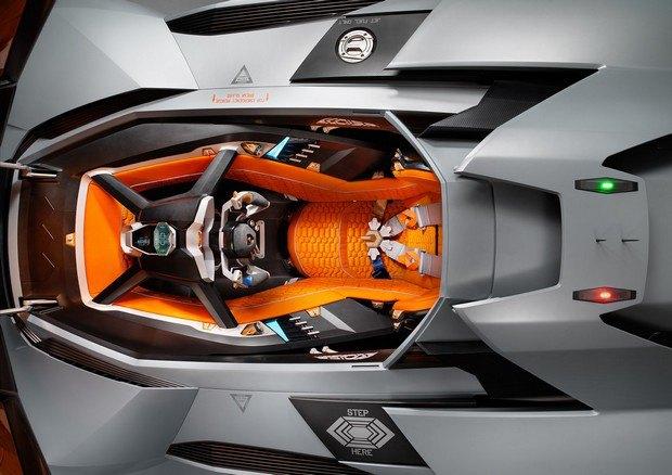 Lamborghini представили концепт одноместного суперкара Egoista. Изображение № 8.