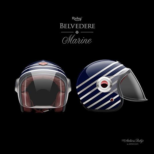 Коллекция мотоциклетных шлемов марки Les Ateliers Ruby. Изображение № 5.