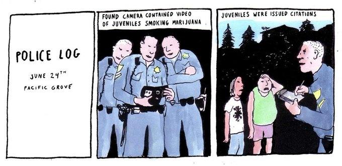 Police Log Comics: Абсурдные полицейские сводки в формате комиксов. Изображение № 17.