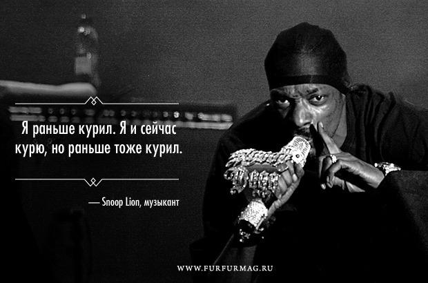 «Я не кусаюсь»: 10 плакатов с высказываниями Snoop Lion. Изображение № 9.