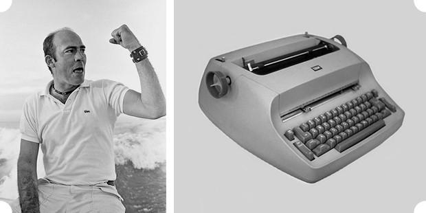Справа: Печатная машинка IBM Selectric. Такой Томпсон пользовался почти всю жизнь, на такой же было напечатано и его «последнее слово». Изображение № 27.