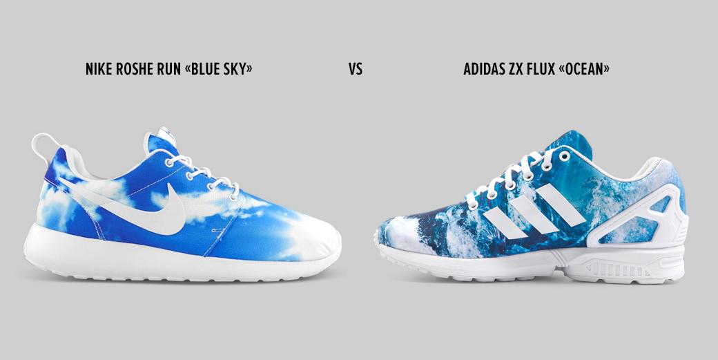 Сникер-баттл: Nike Roshe Run против Adidas ZX Flux. Изображение № 1.