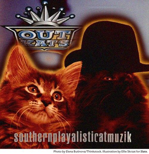 Художница поместила котов на обложки культовых рэп-альбомов. Изображение № 10.