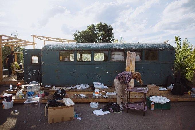 Фоторепортаж: Строительство объектов фестиваля Outline. Изображение № 53.