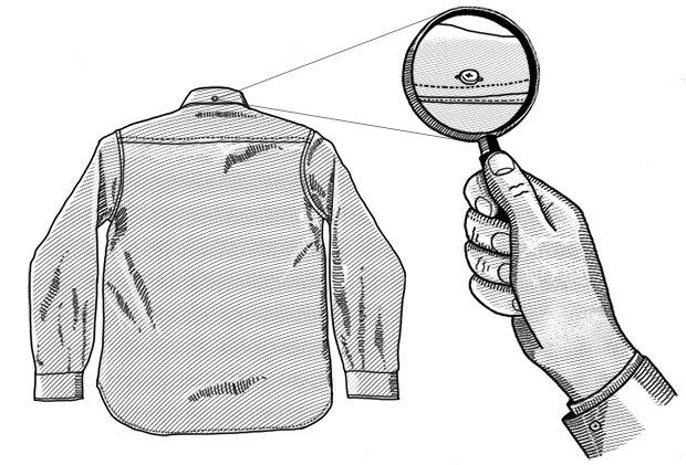 Внимание к деталям: Зачем нужна задняя пуговица на воротнике рубашки. Изображение № 1.
