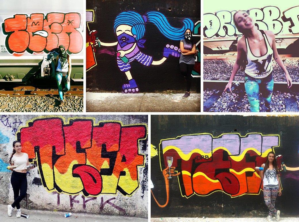 «Девушки не должны рисовать фигню в розовых цветах»: Интервью с граффити-командой As Mina Do Vandal. Изображение № 2.