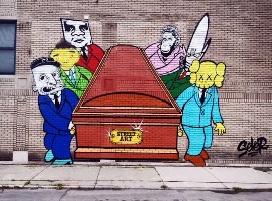 Художник Sever выпустил новую работу на тему смерти уличной одежды. Изображение № 2.