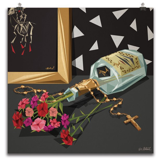 Burgundy: Живопись по мотивам песен Канье Уэста. Изображение № 2.