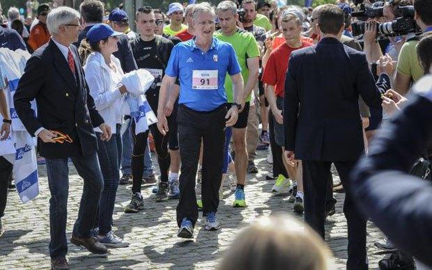 Бельгийский король пробежал 20-километровый марафон. Изображение № 1.