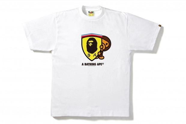 Марка A Bathing Ape и компания Ferrari представили совместную коллекцию одежды. Изображение № 7.