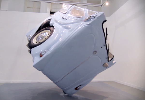 "Indonesian sculptor turned ""Volkswagen Beetle"" in a perfect sphere.  Image number 5."